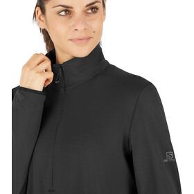 Salomon Outrack Camiseta Media Cremallera Mujer, negro